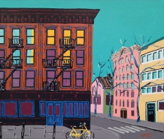 Minä elän / New York City, US. 70 x 60 cm, 650 €.
