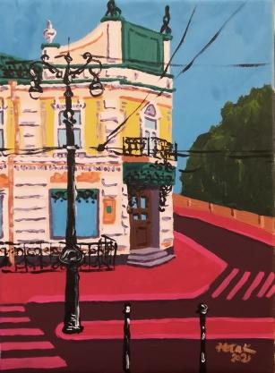 Puolimatkassa / Omsk, Venäjä. 24 x 33 cm, 280 €.